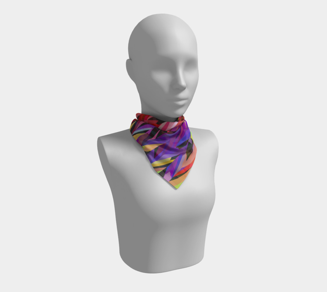 Burst of Color Square Scarf preview #1