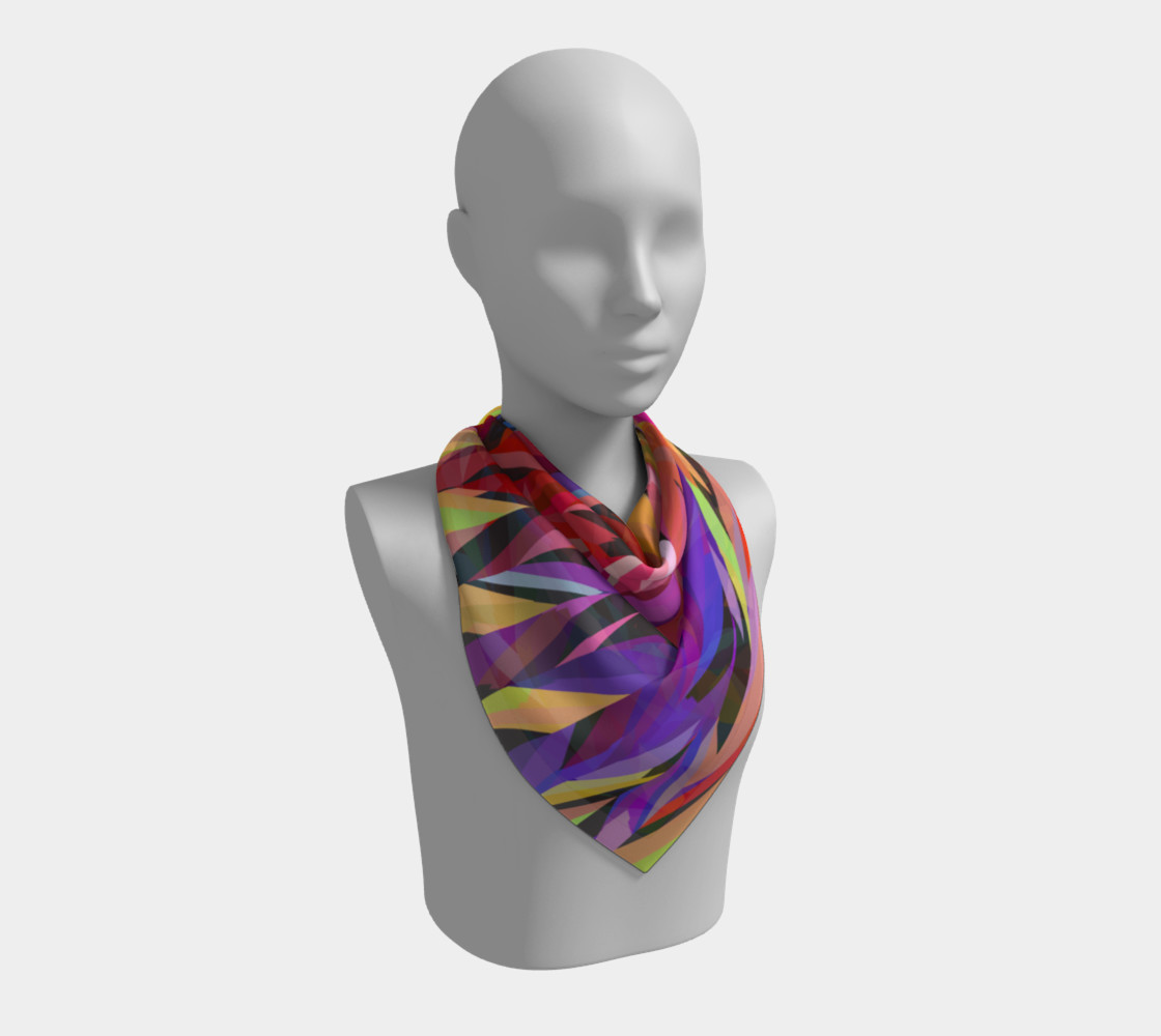 Burst of Color Square Scarf preview #2