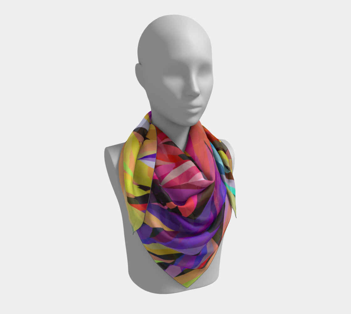Burst of Color Square Scarf preview #3