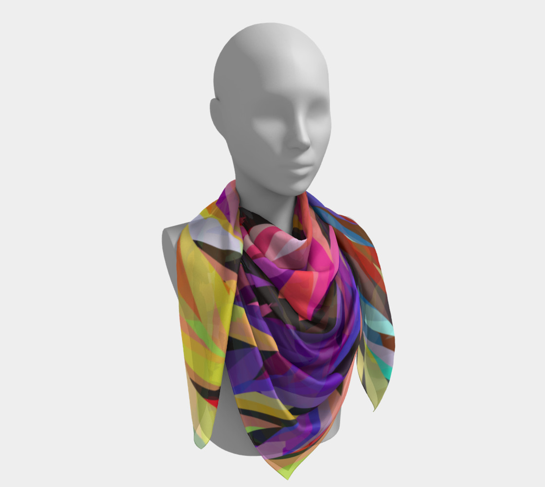 Burst of Color Square Scarf preview #4