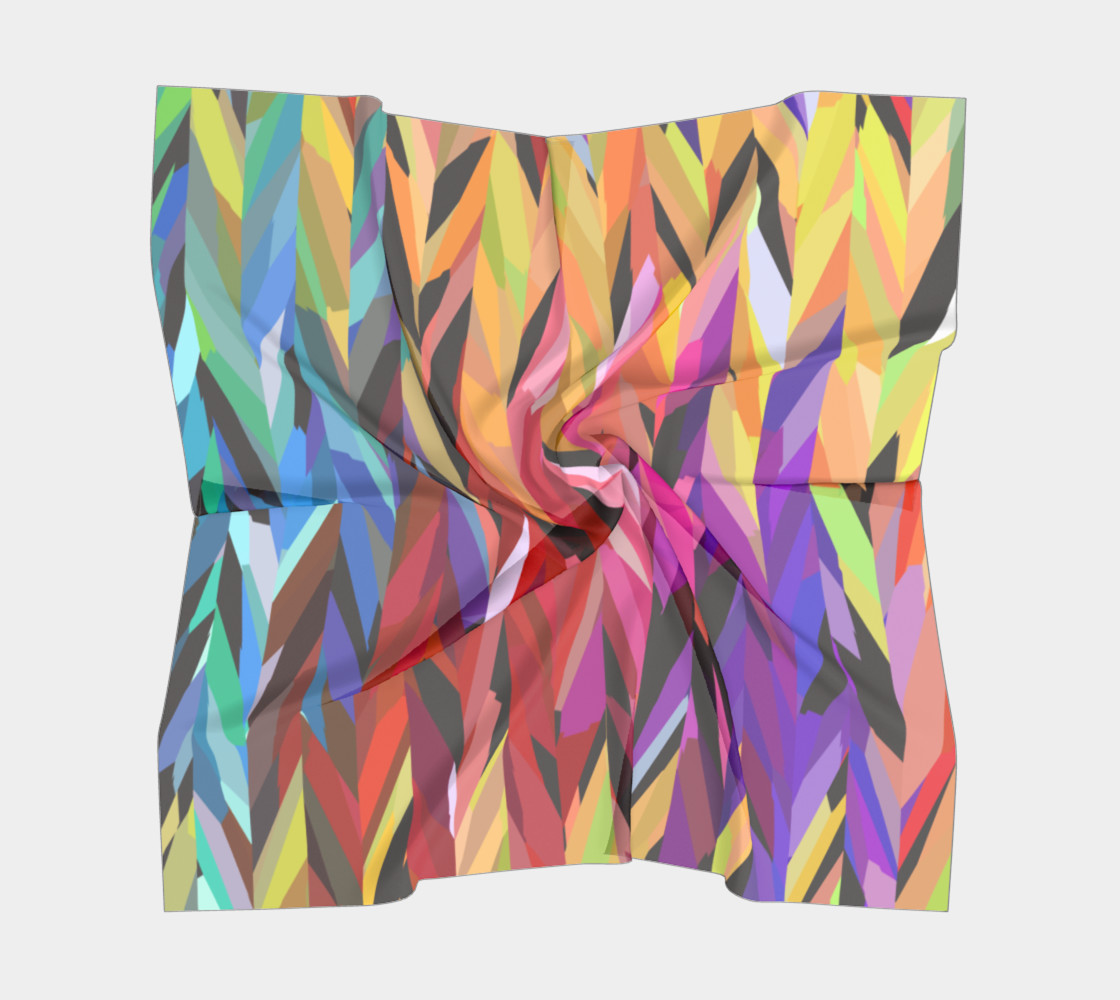 Burst of Color Square Scarf preview #5