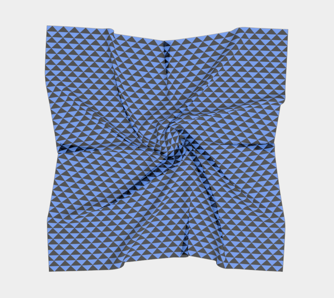 Black and Cornflower Blue Triangles preview #5