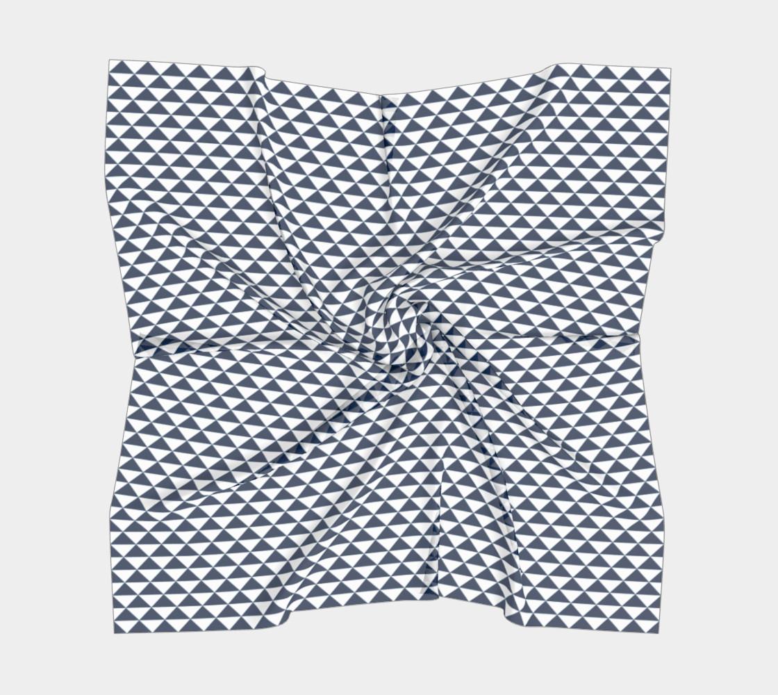 Aperçu de Navy Blue and White Triangles #5