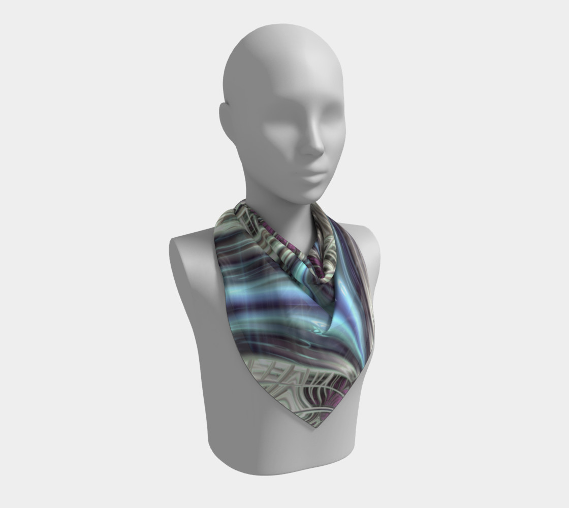 Cosmic Orchid Square Scarf preview #2