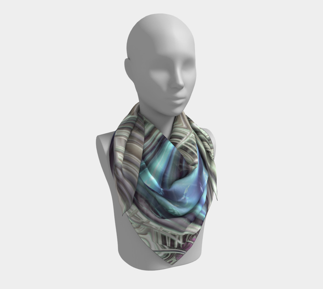 Cosmic Orchid Square Scarf preview #3