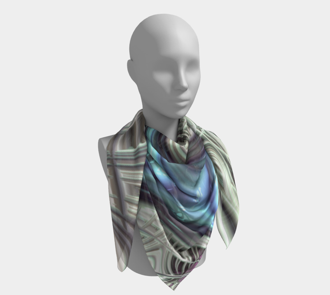 Cosmic Orchid Square Scarf preview #4