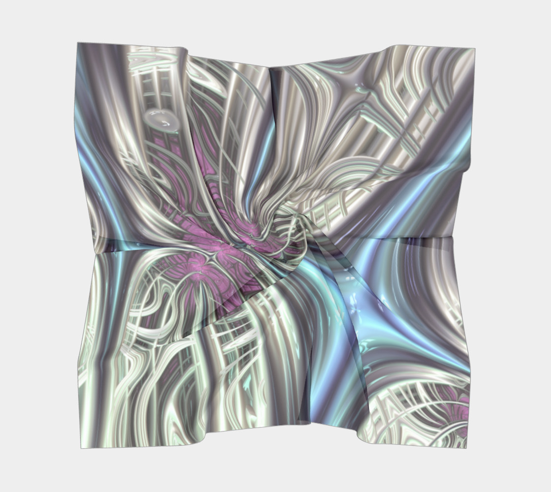 Cosmic Orchid Square Scarf preview #5