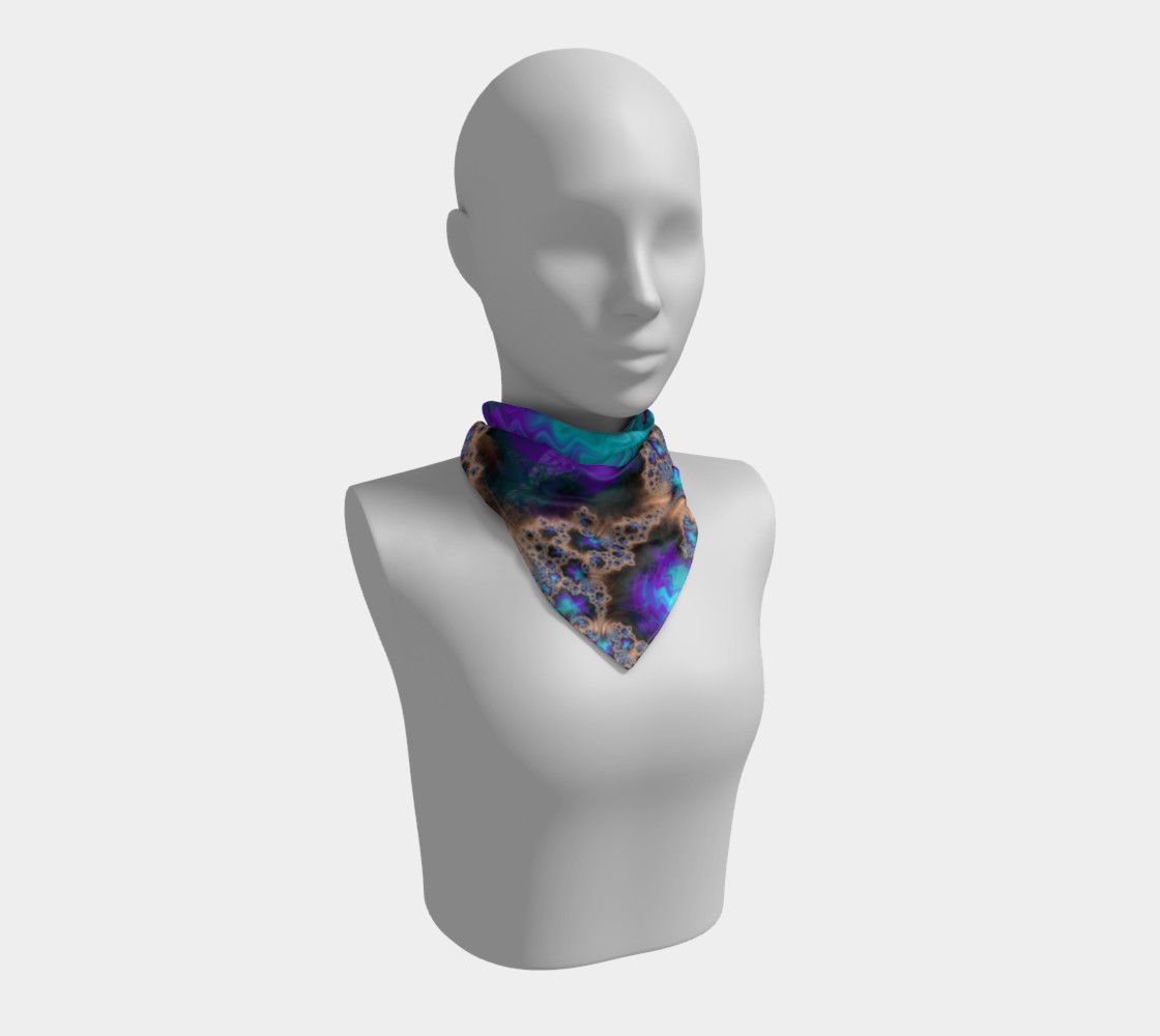 Electric Ocean Square Scarf preview #1