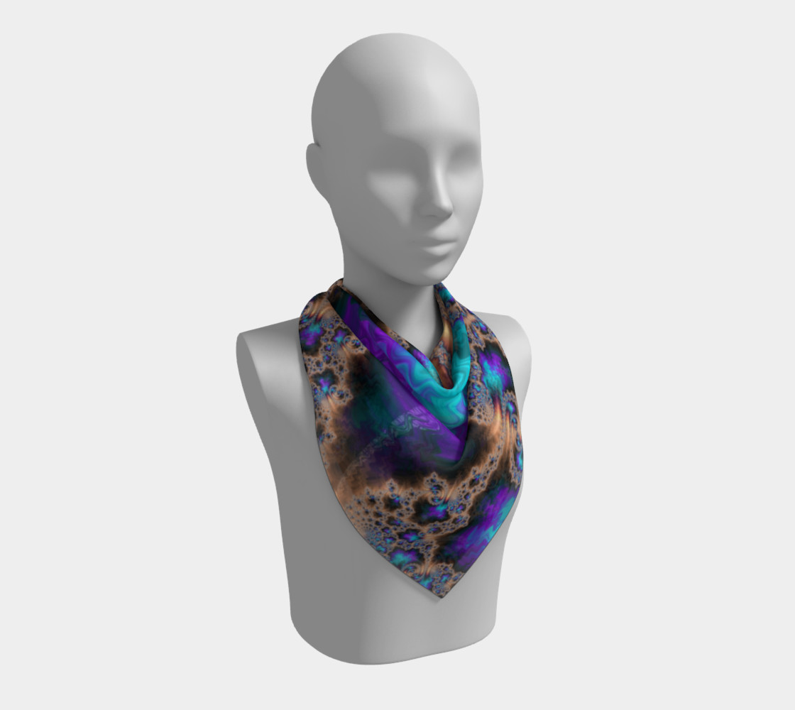 Electric Ocean Square Scarf preview #2