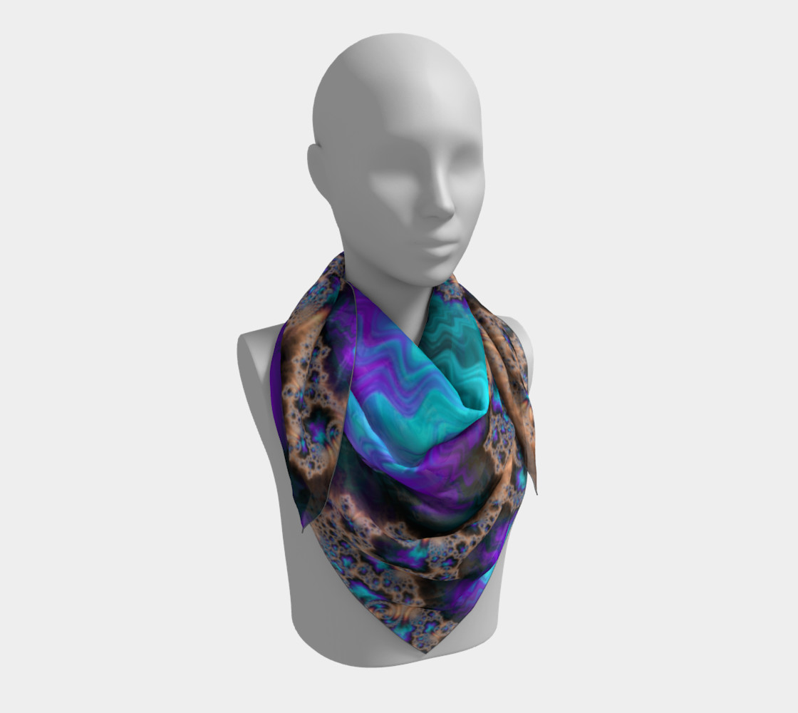 Electric Ocean Square Scarf preview #3