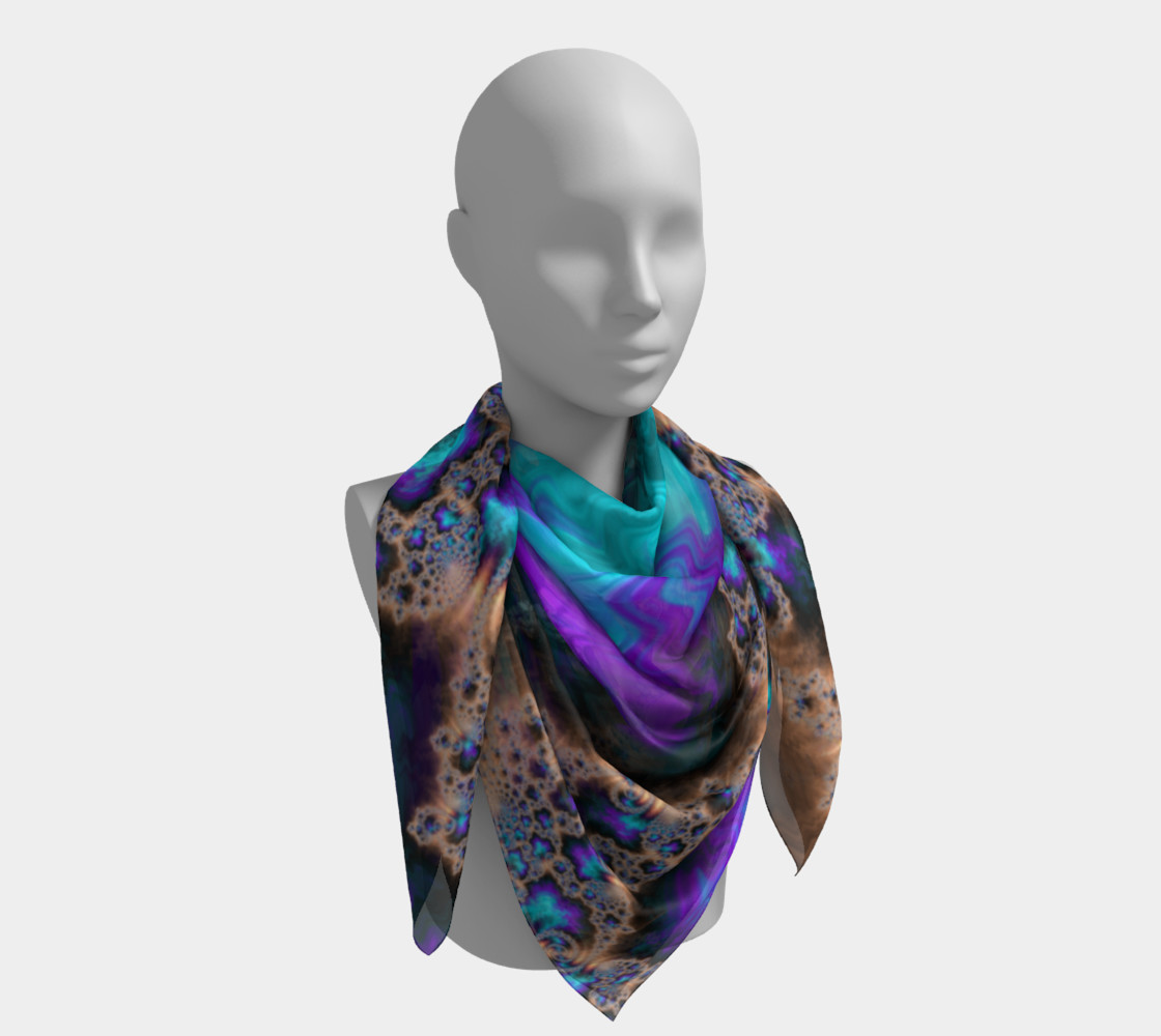 Electric Ocean Square Scarf preview #4