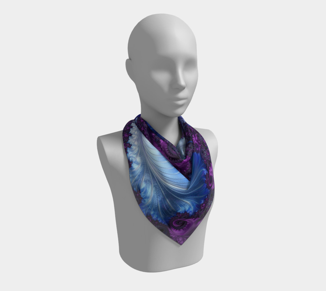 Feathery Flow Square Scarf preview #2