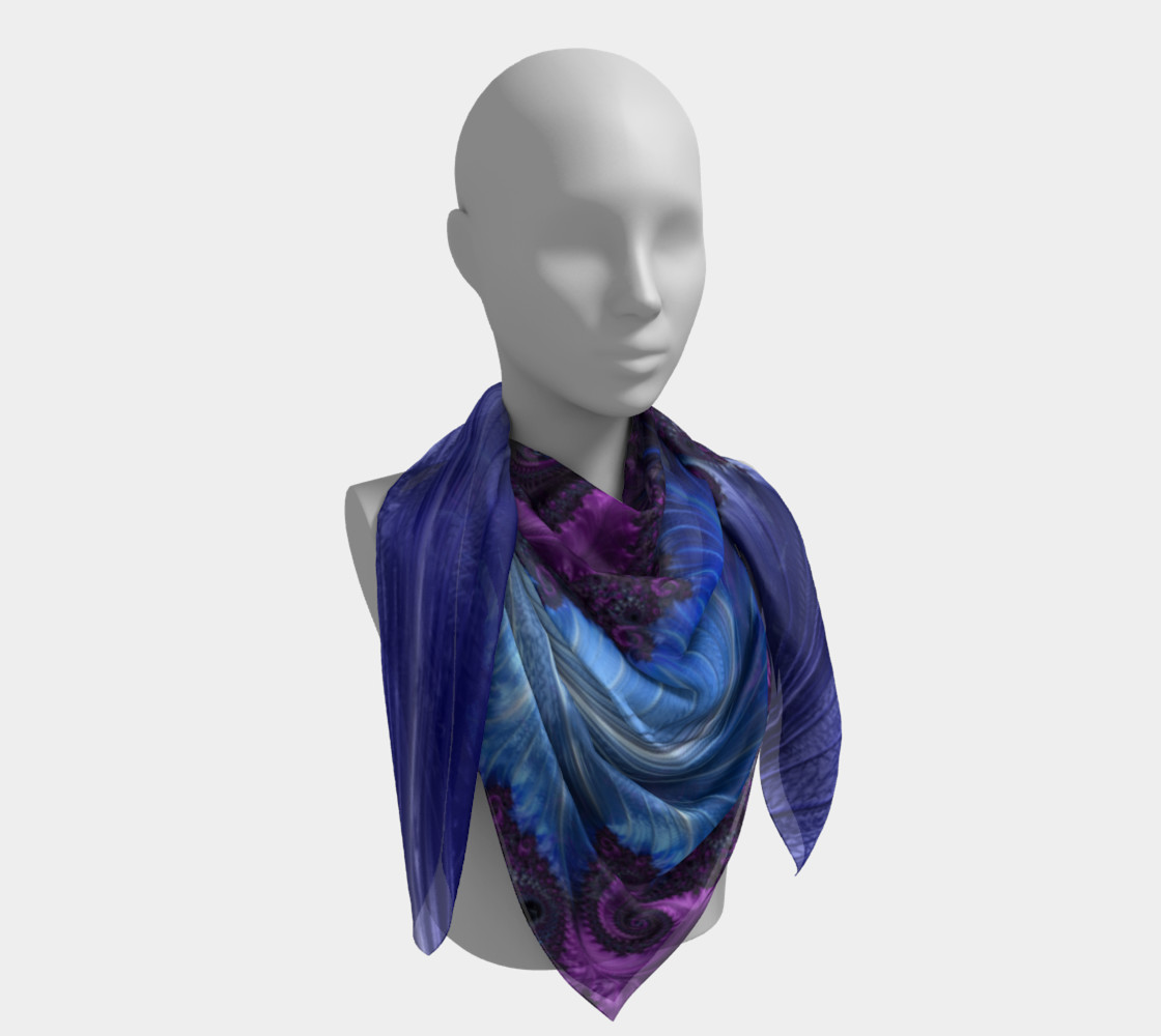 Feathery Flow Square Scarf preview #4