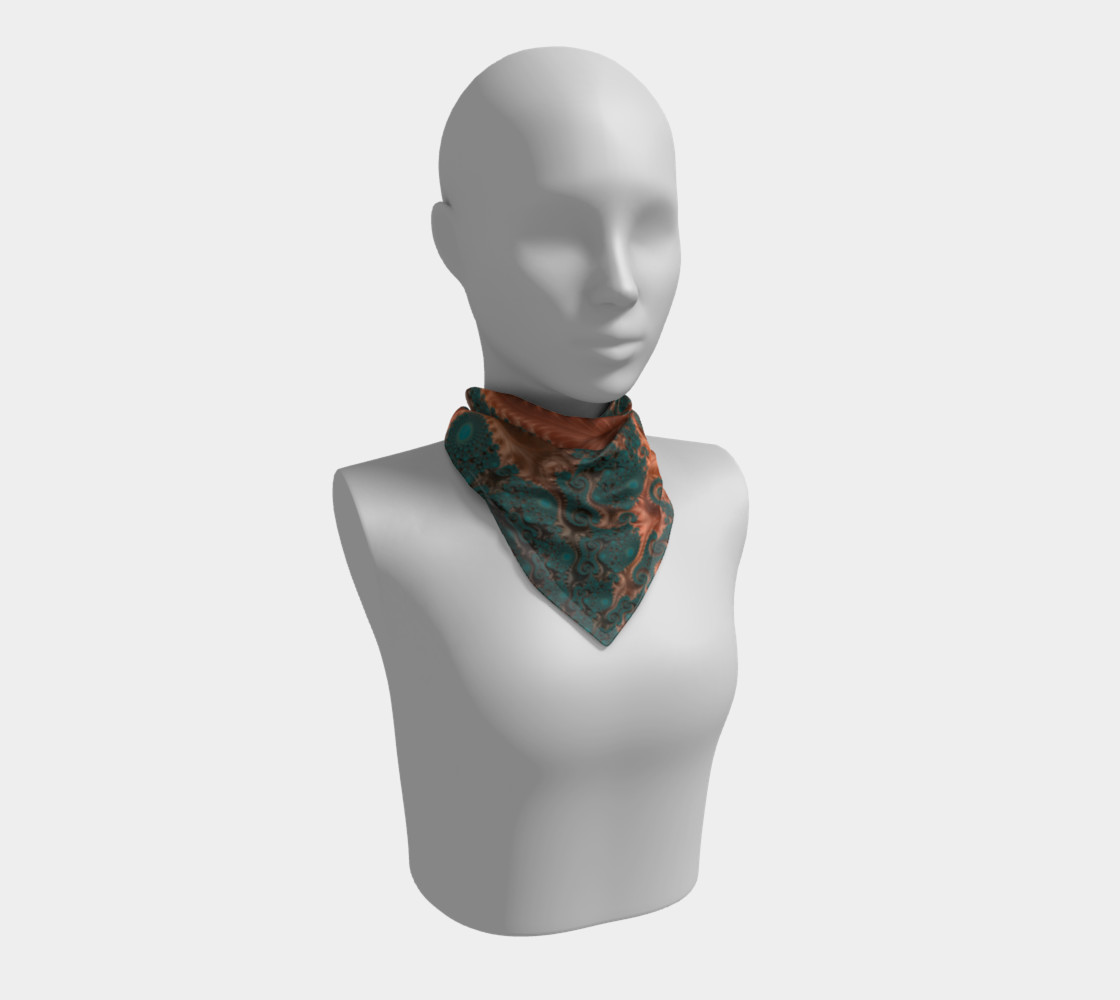 Copper Leaves Square Scarf preview #1