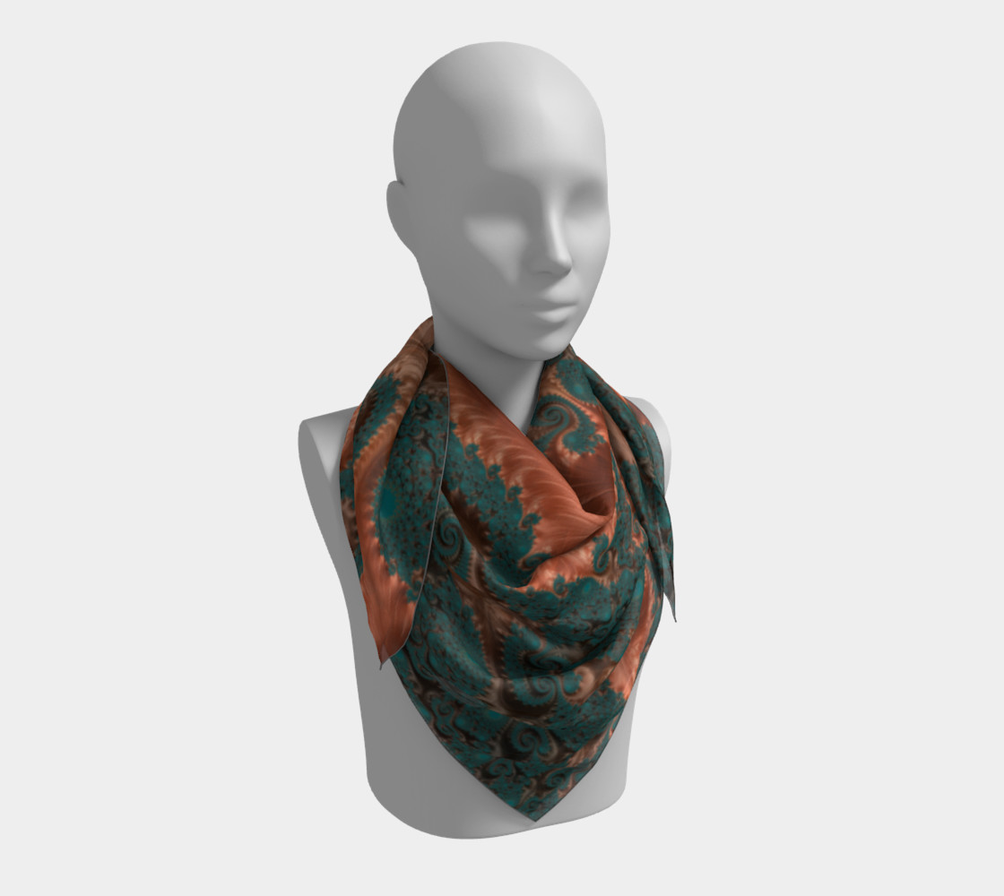 Copper Leaves Square Scarf preview #3