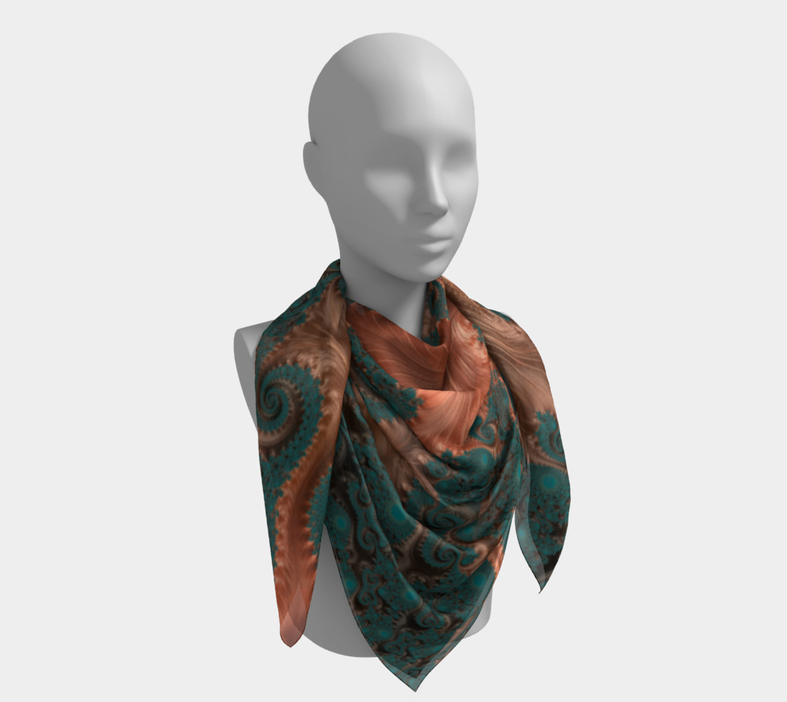 Copper Leaves Square Scarf preview #4