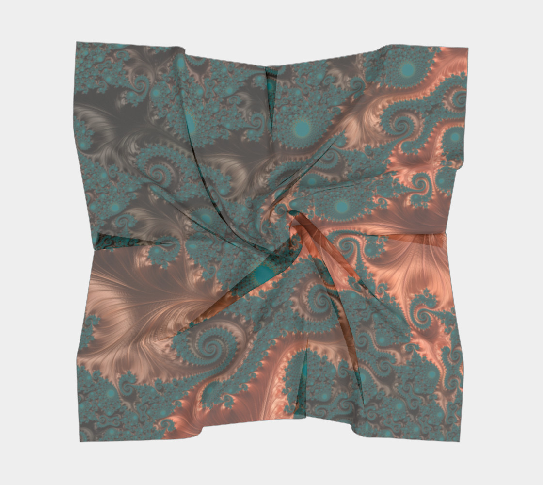 Copper Leaves Square Scarf preview #5