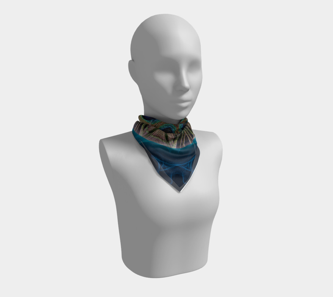Peacock Power Silk Scarf preview #1