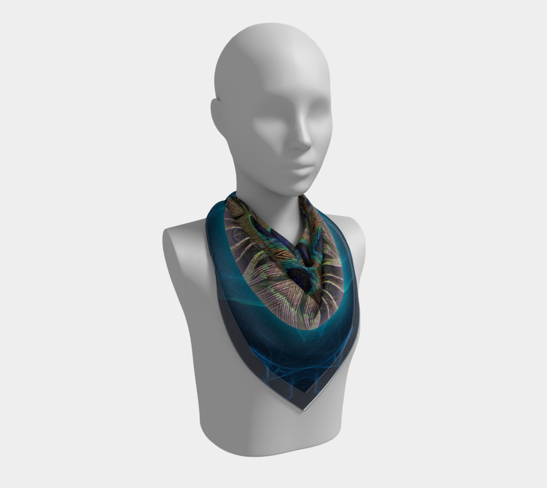 Peacock Power Silk Scarf preview #2