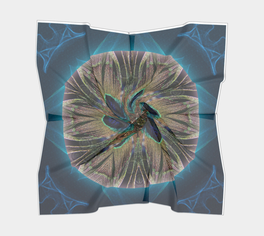 Peacock Power Silk Scarf preview #5