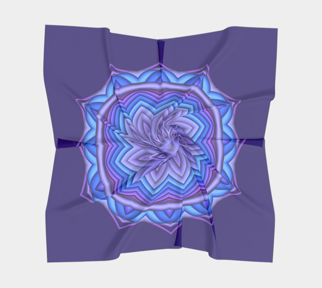 Blue & Purple Geometric Flower Medallion Big Scarf  preview #5