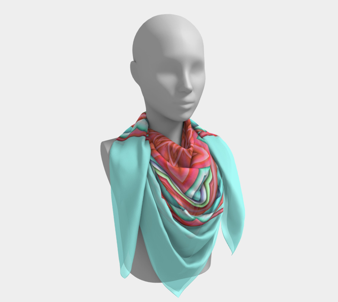 Colorful Geometric Flower Medallion Big Scarf  preview #4