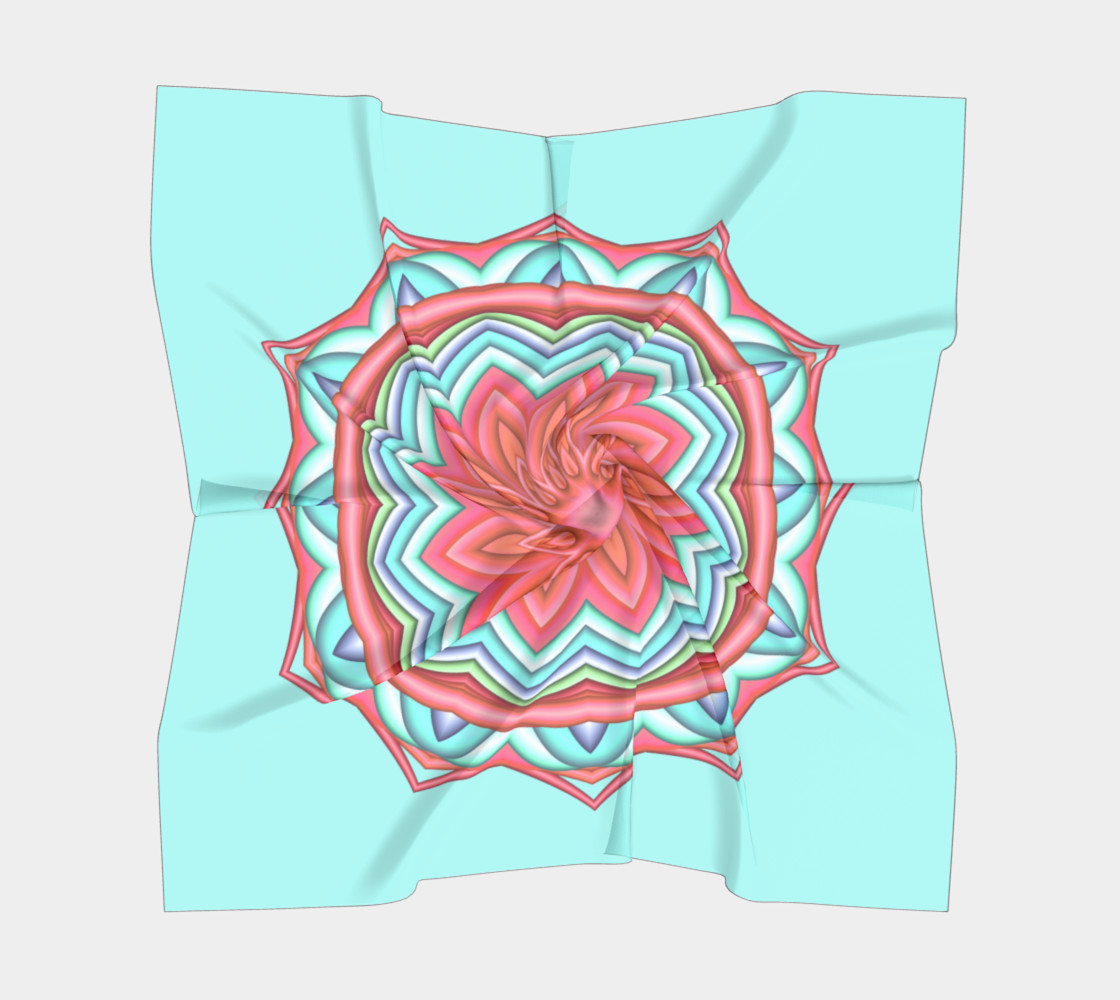 Colorful Geometric Flower Medallion Big Scarf  preview #5
