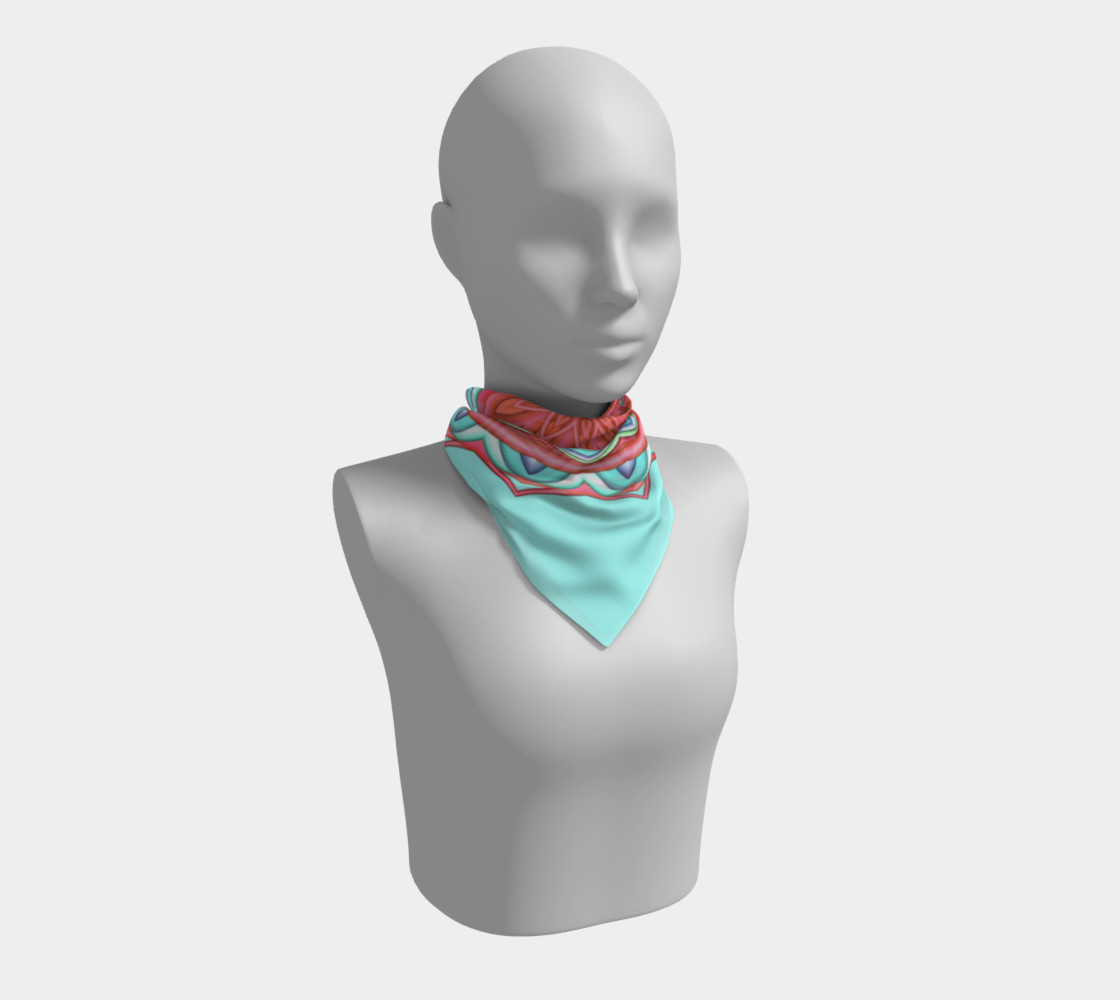 Colorful Geometric Flower Medallion Square Scarf preview #1