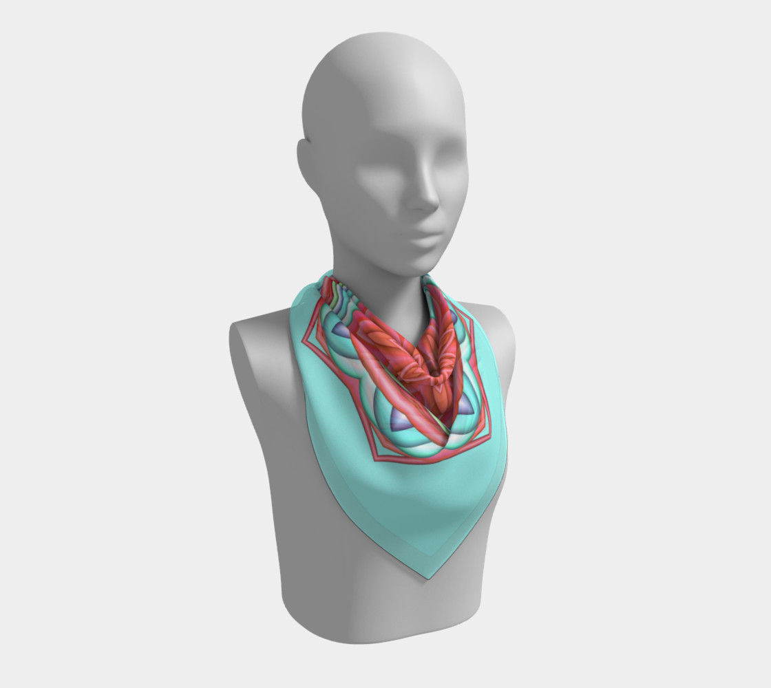 Colorful Geometric Flower Medallion Square Scarf preview #2