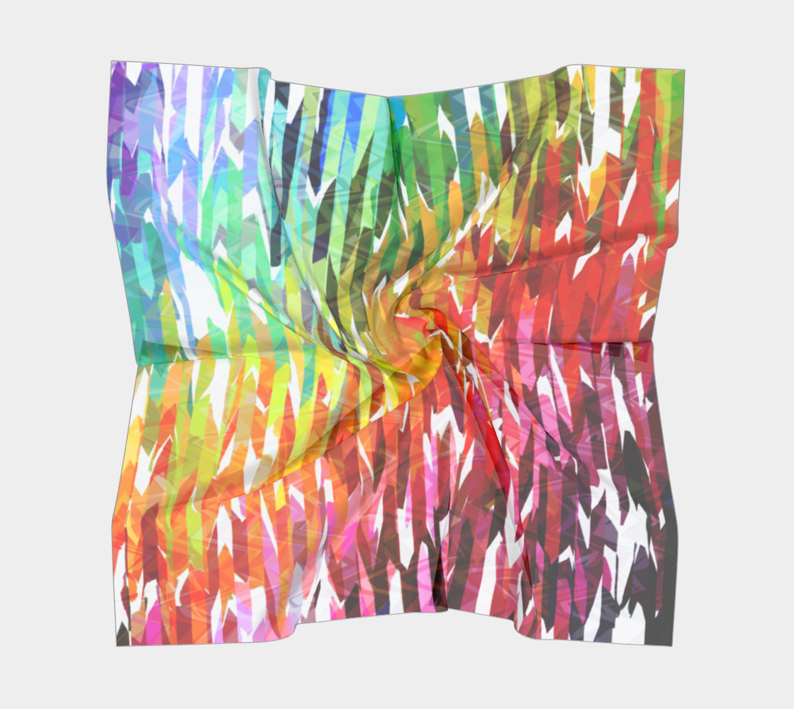 Designer Stripes Square Scarf preview #5