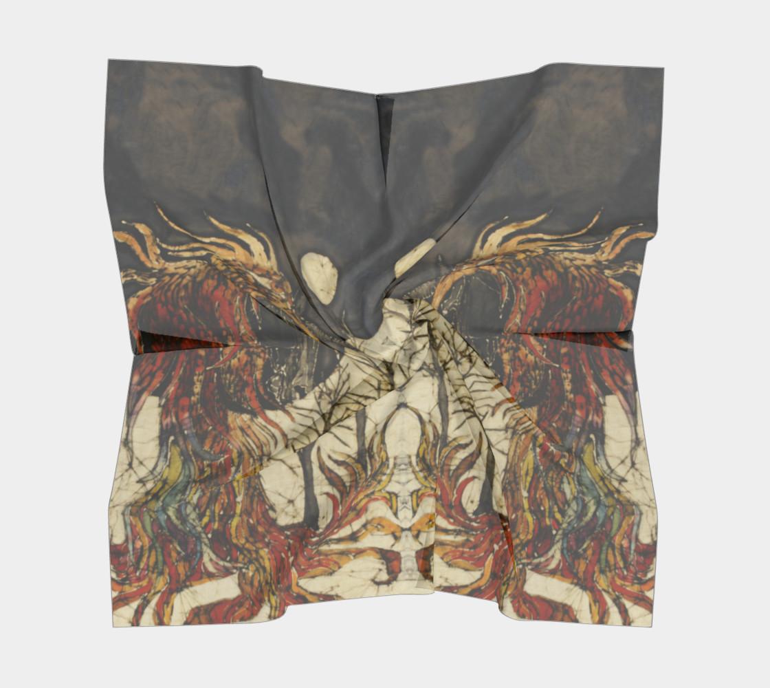Unicorn and Phoenix Square Scarf preview #5