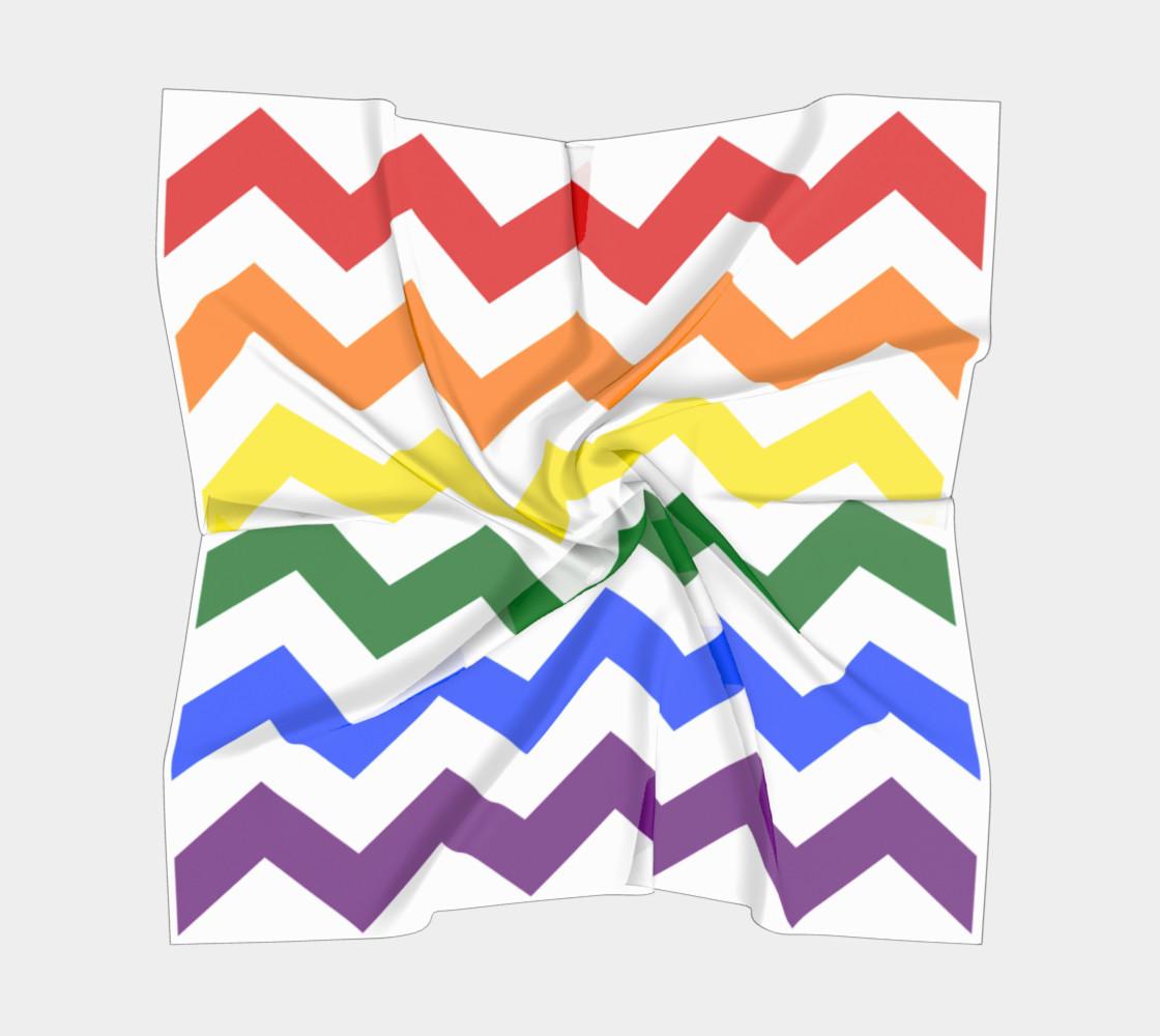 Rainbow Chevron Pattern Design Rainbow Colors Chevron Simple preview #5