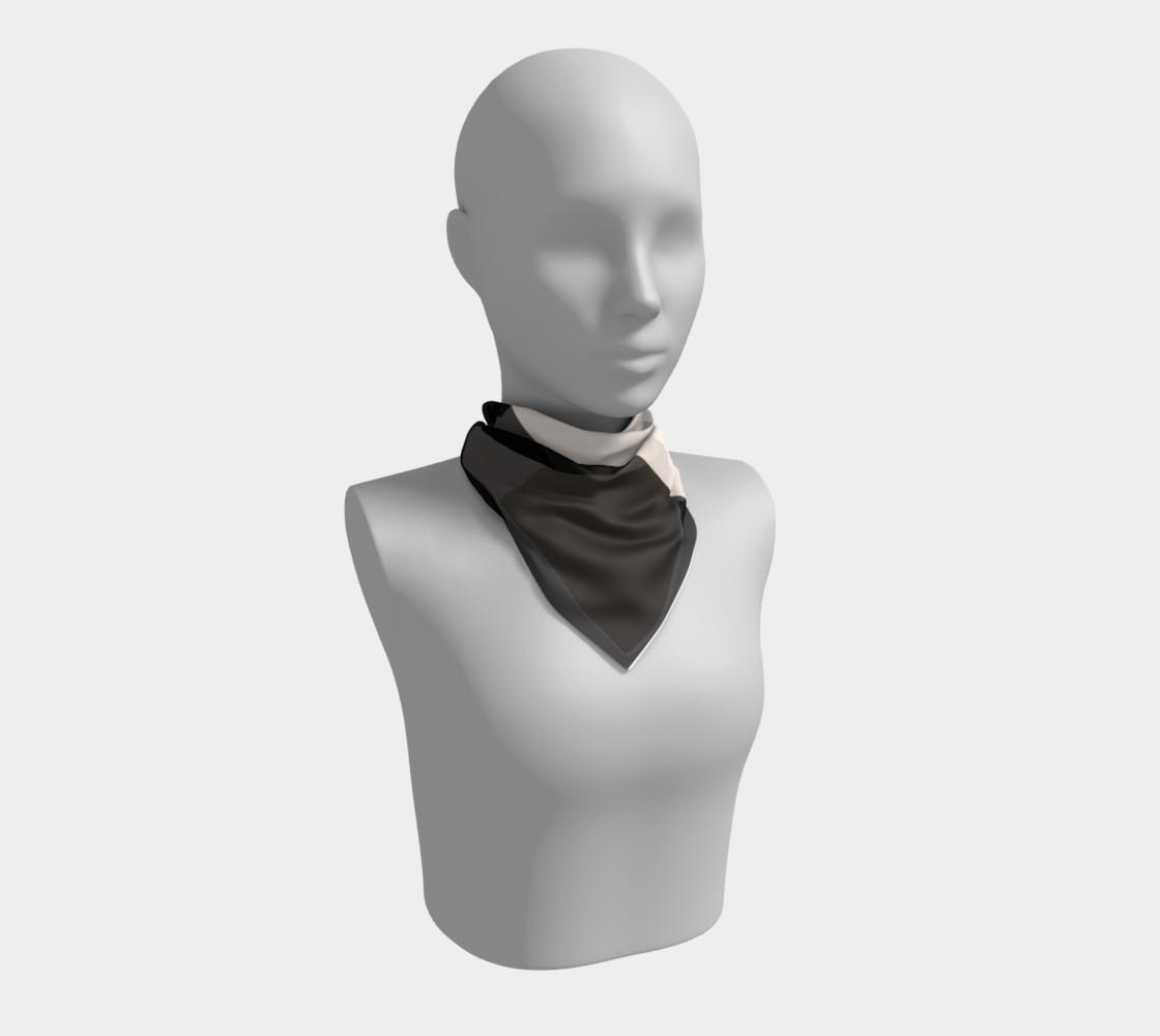black tan color block scarf preview #1