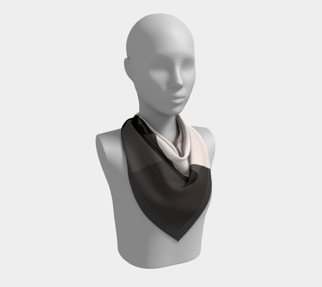 black tan color block scarf preview #2