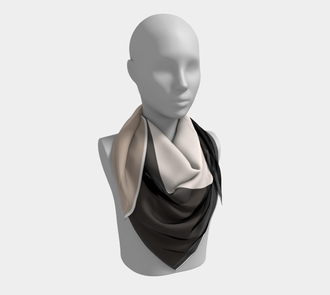 black tan color block scarf preview #3