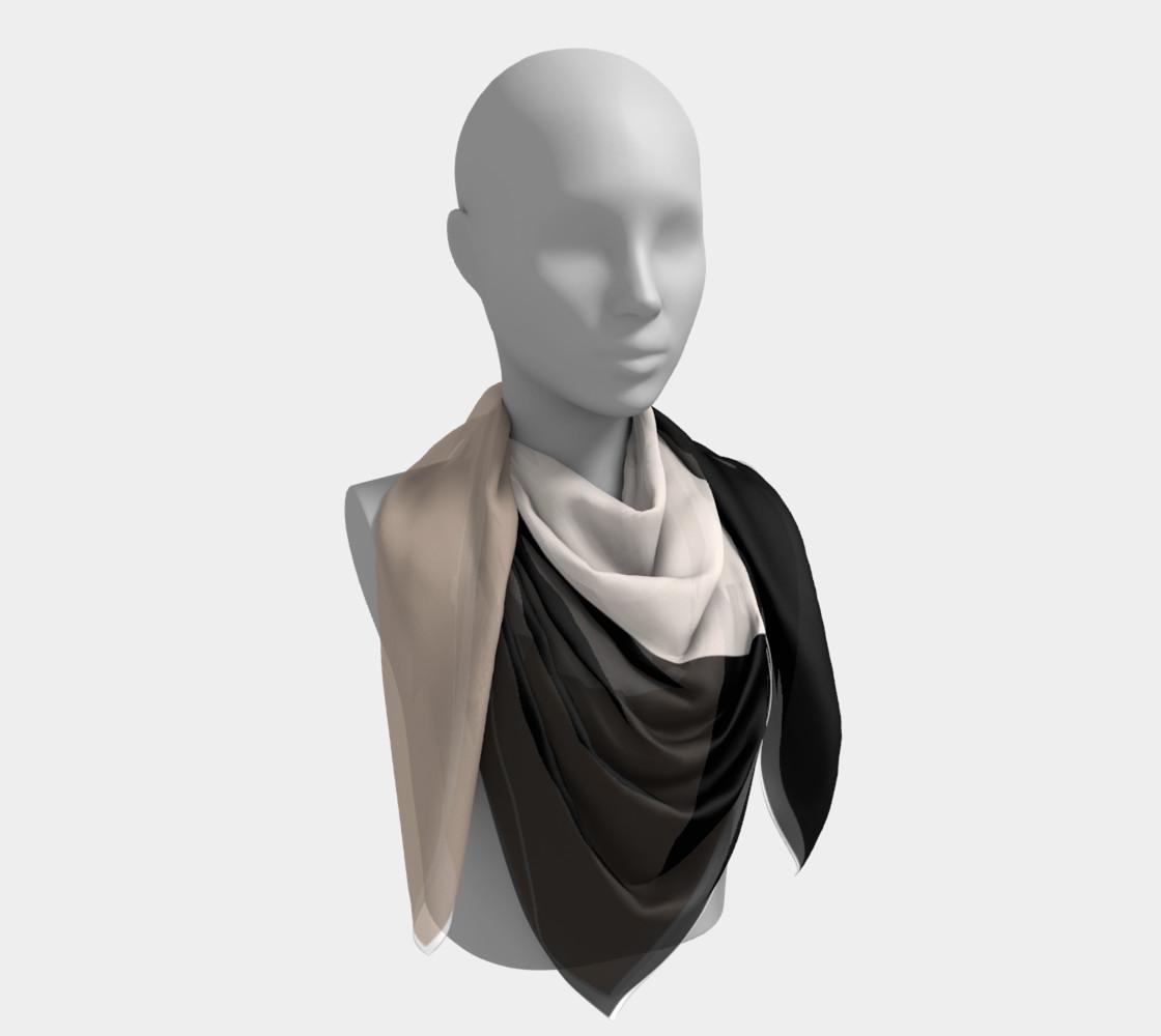 black tan color block scarf preview #4