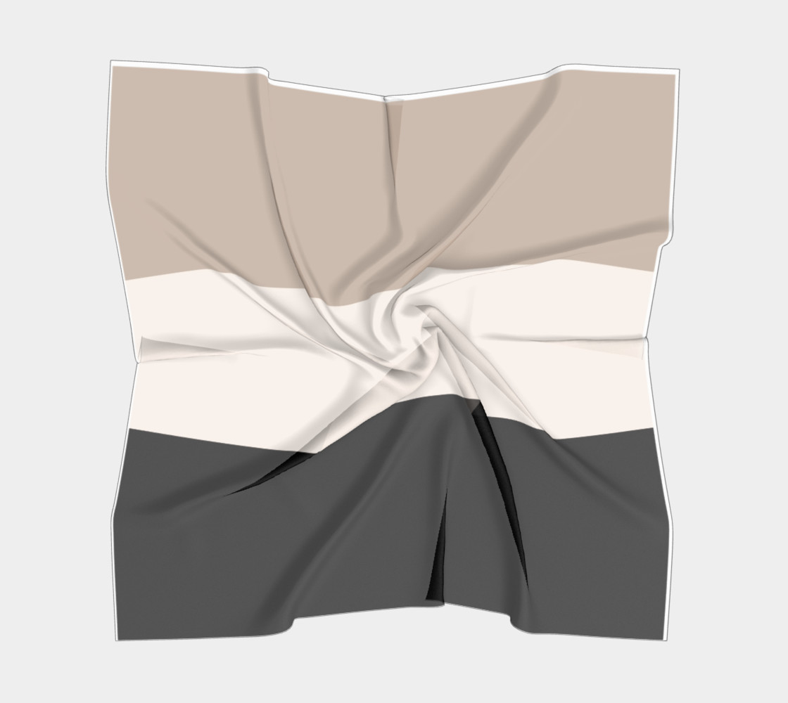 black tan color block scarf preview #5