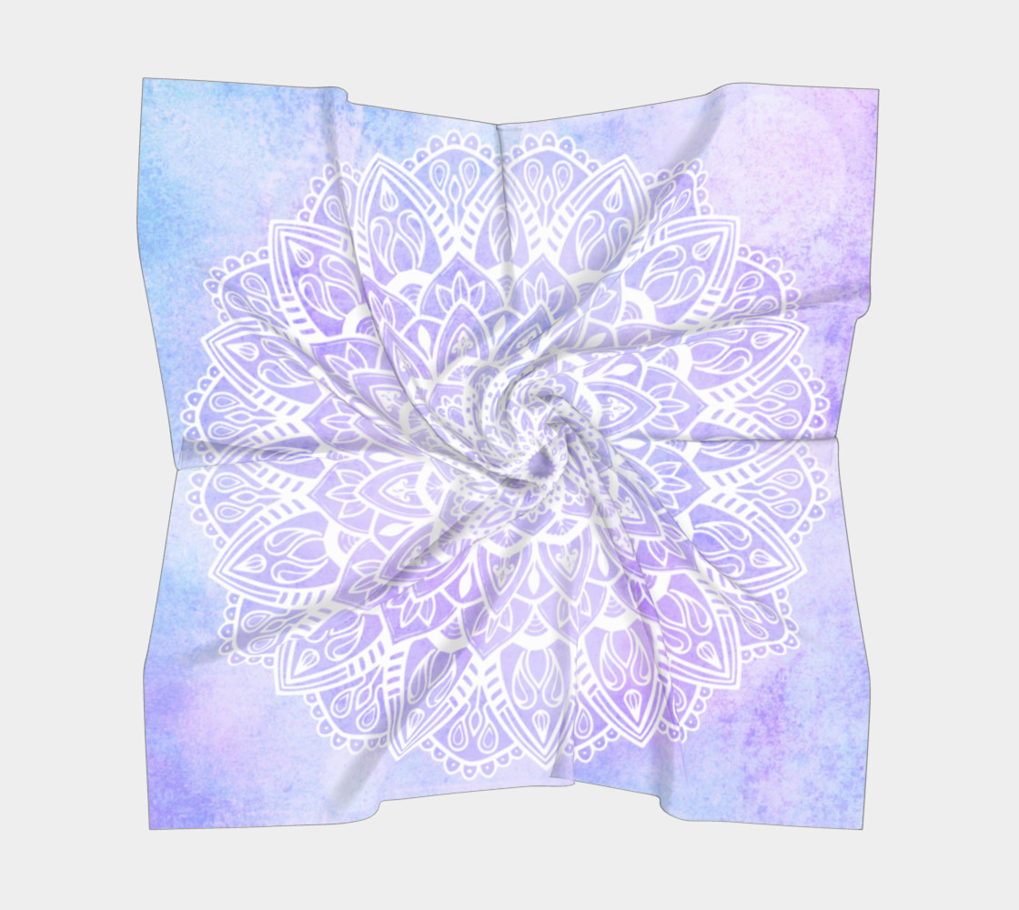 White Mandala on Pastel Purple preview #5