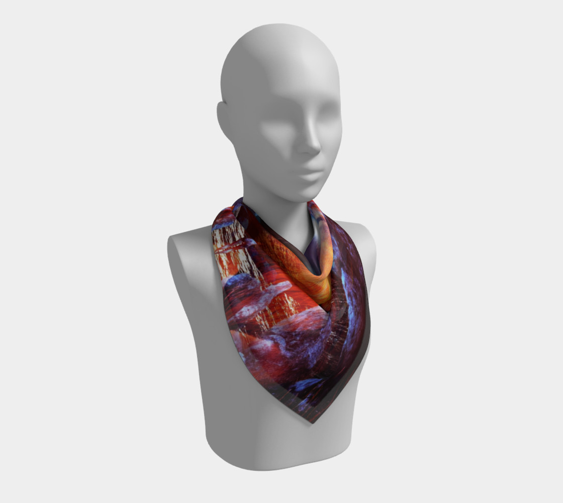 """""""Lion Lady"""" Square Scarf (26"""" x 26"""") preview #2"""