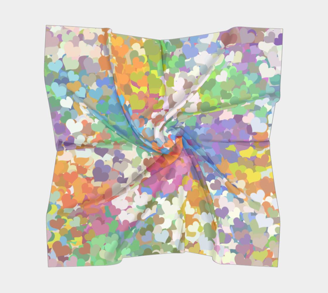 Aperçu de Pastel Tiny Confetti Hearts Square Scarf #5