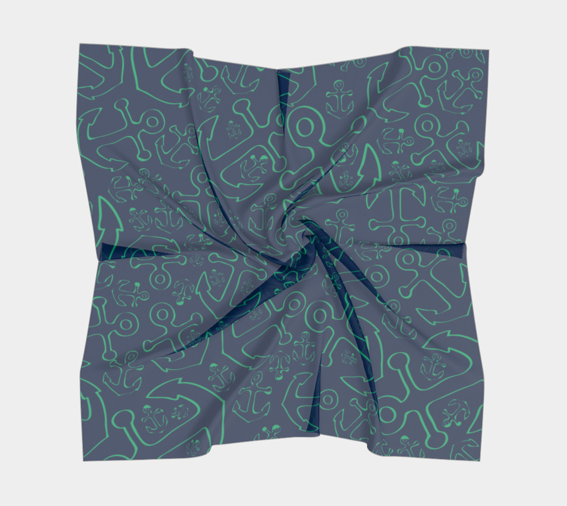 Anchor Dream - Green on Navy preview #5