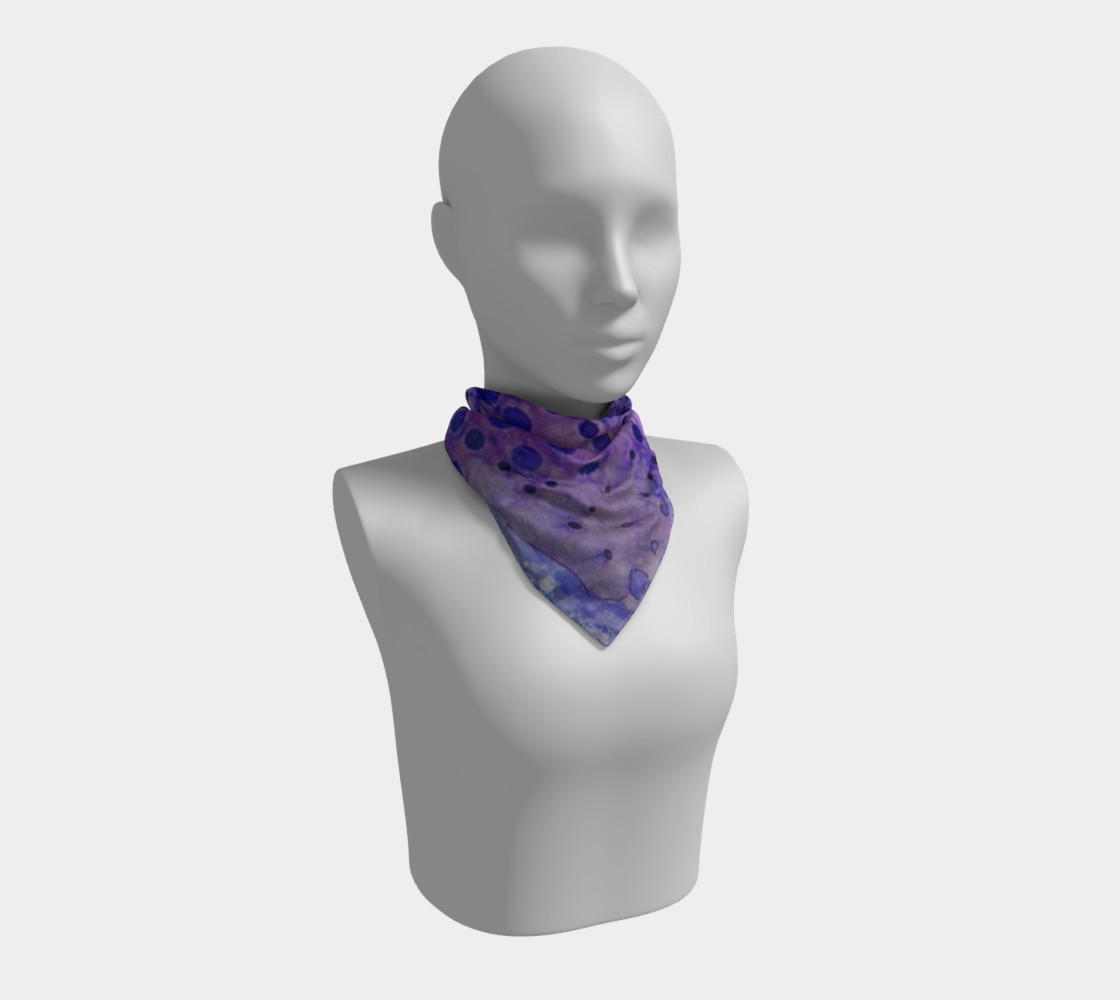 Purple Grid Ink #2 Square Scarf preview #1