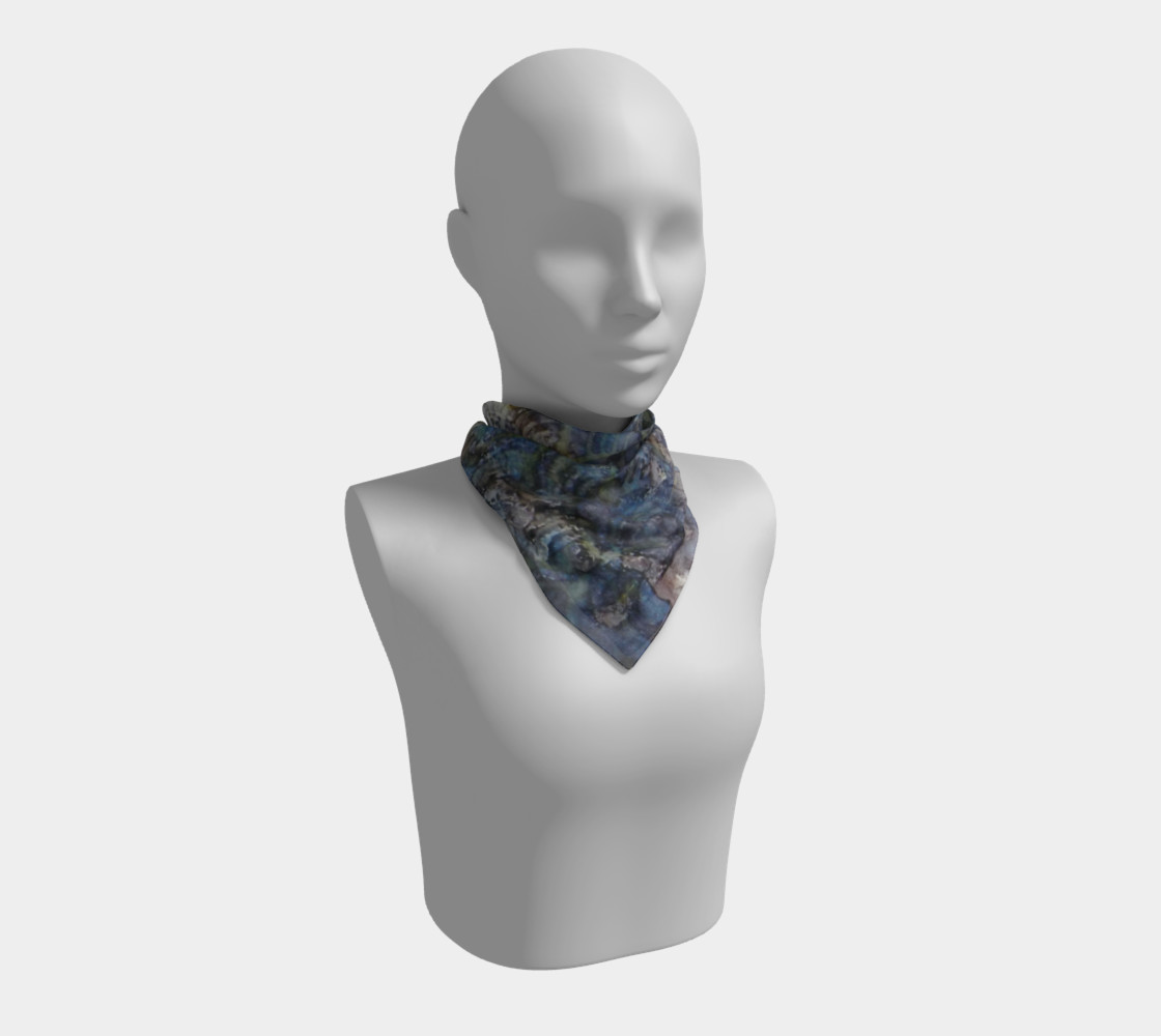 Wave Shadows Ink #7 Square Scarf preview #1