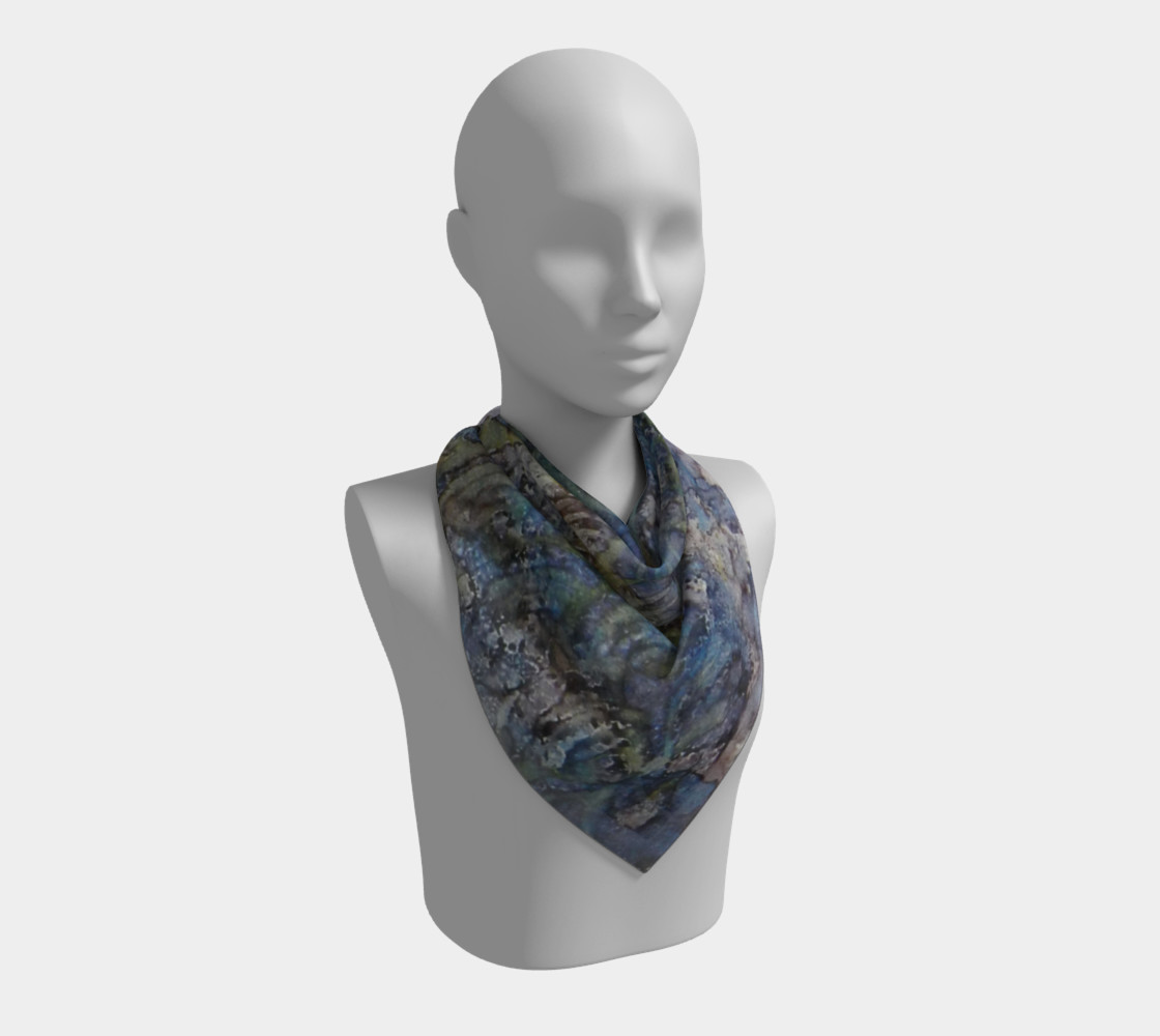 Wave Shadows Ink #7 Square Scarf preview #2