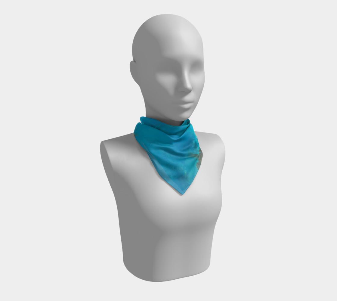 Aperçu de Blue Turquoise Square Scarf #1