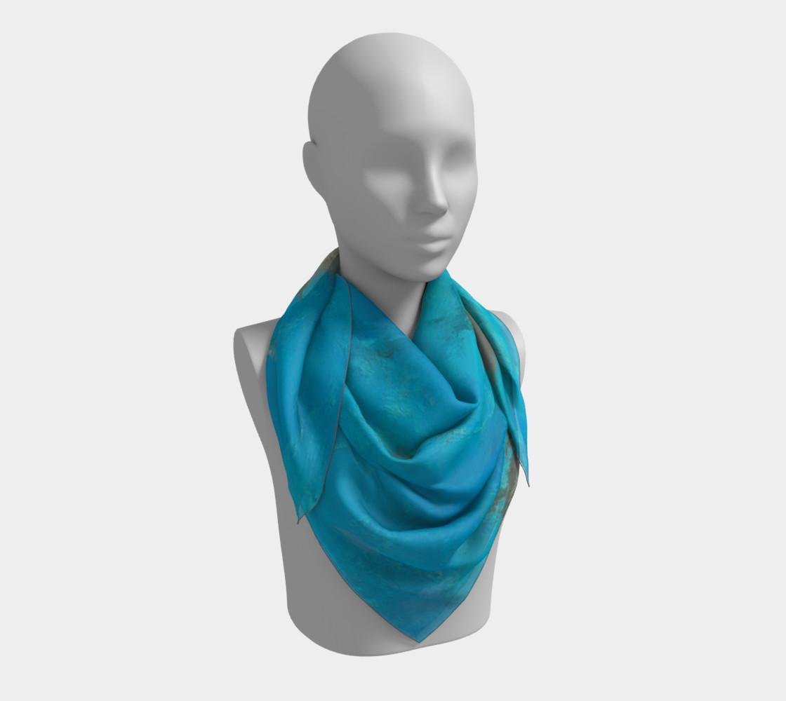 Aperçu de Blue Turquoise Square Scarf #3