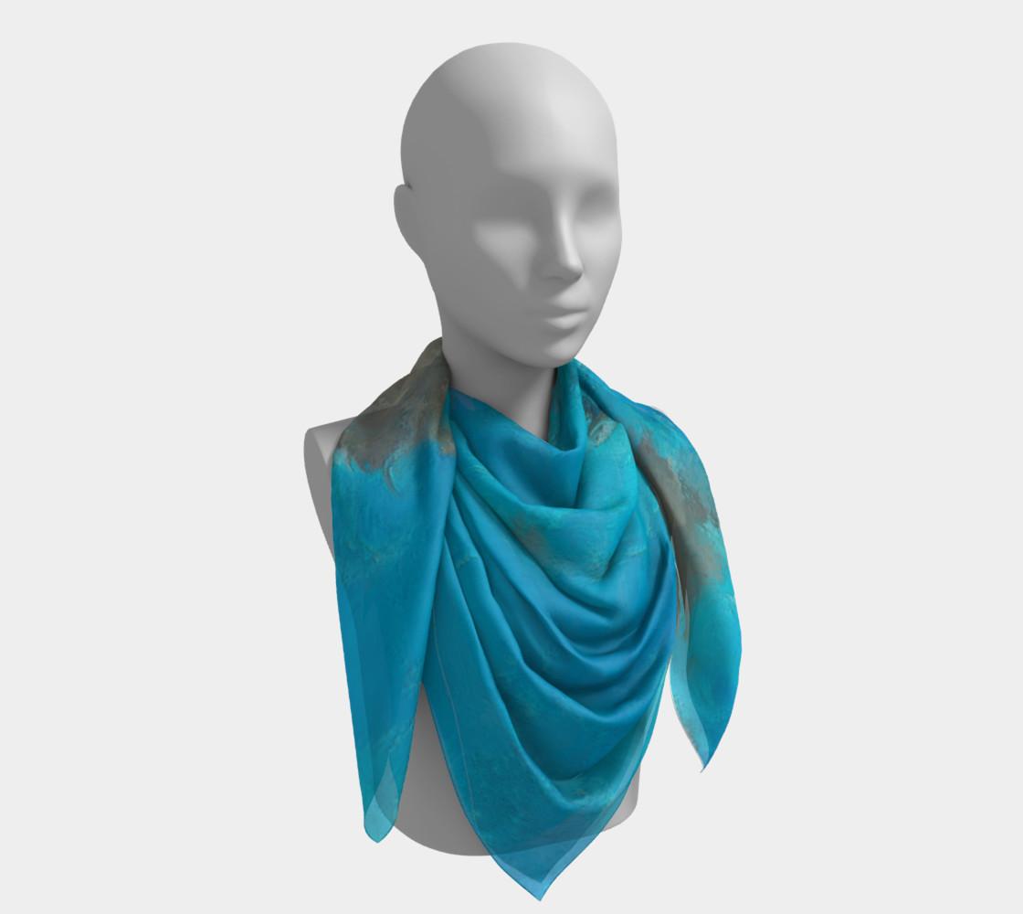 Aperçu de Blue Turquoise Square Scarf #4