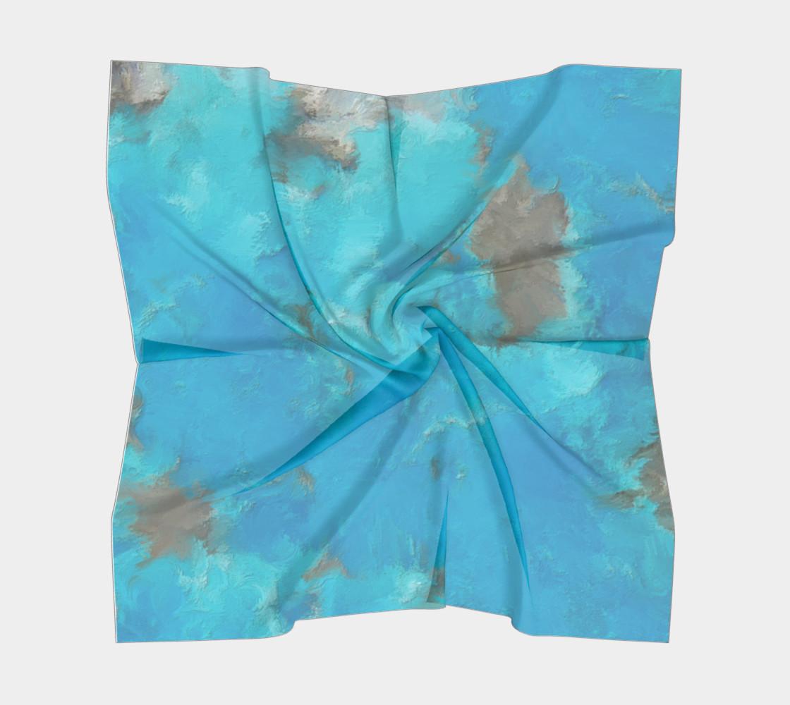 Aperçu de Blue Turquoise Square Scarf #5