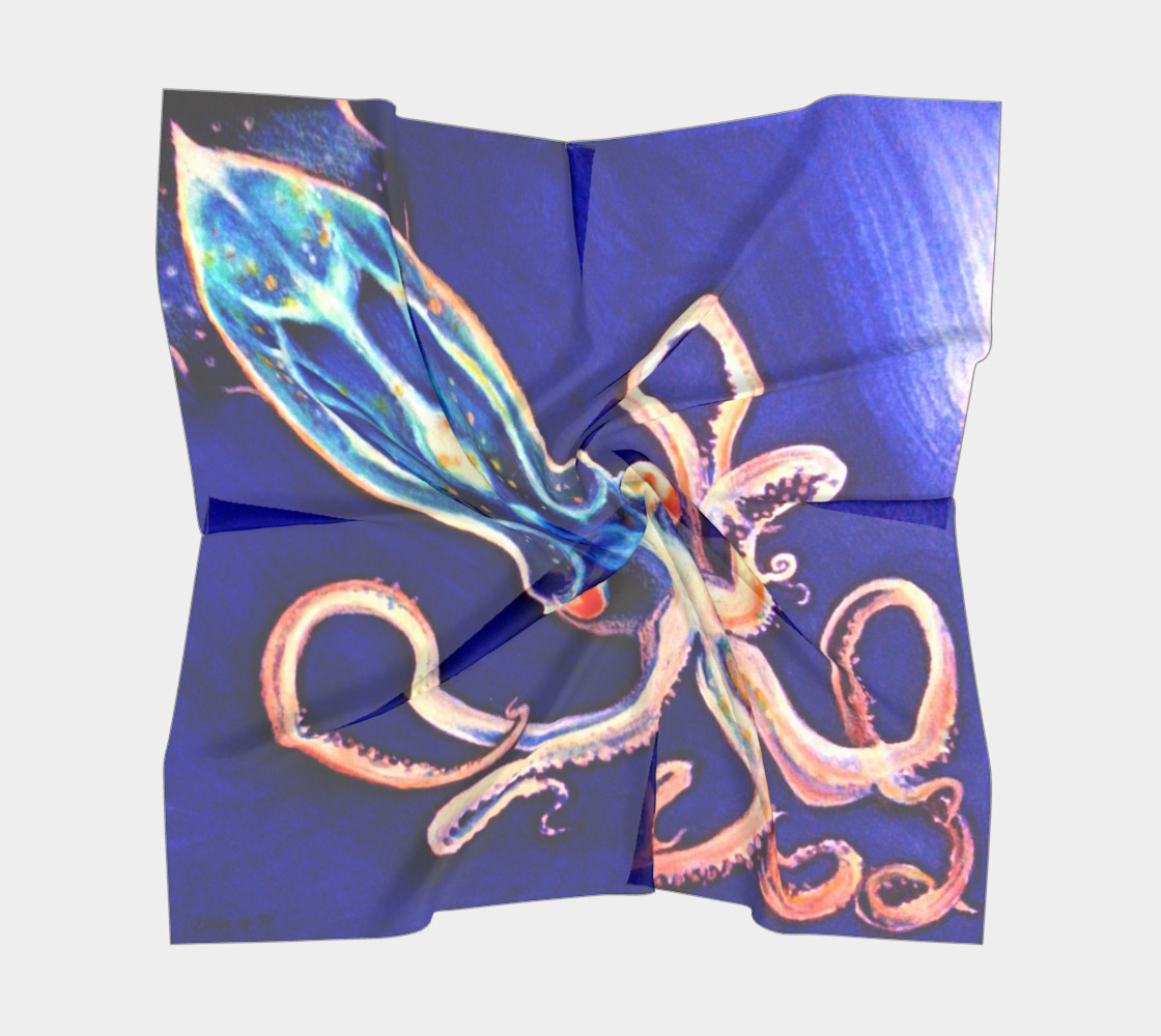 Translucent Squid Scarf Miniature #6
