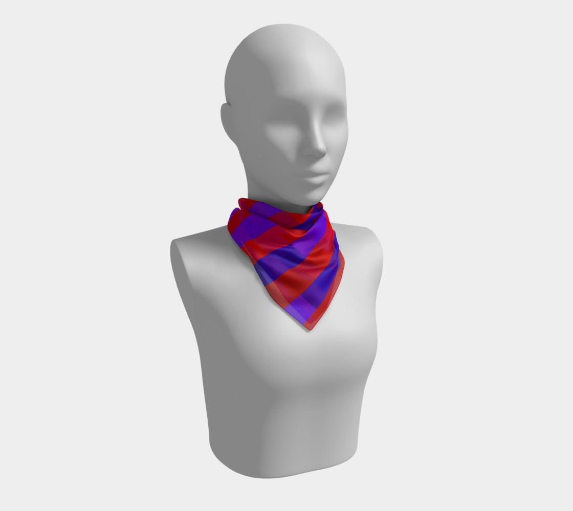 Aperçu de Purple on Purple, Red on Red Silk Scarf #1